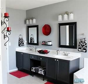 98 bathroom decor black and red combining red and for Black white and red bathroom decorating ideas