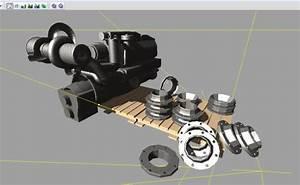Tractor Engine Block On Pallet V1 0