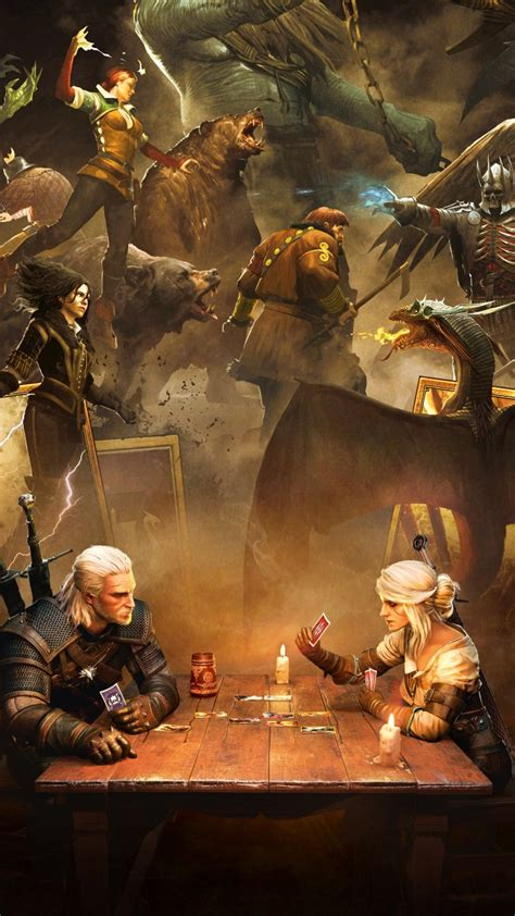 wallpaper gwent  witcher card game playstation  xbox  pc  games