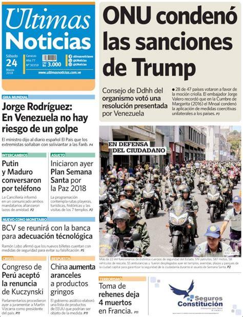 ¡REVISA AQUÍ! Portadas de los principales diarios del país ...