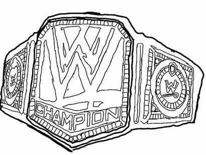 Wwe Coloring Pages Belt Championship Wrestling Printable