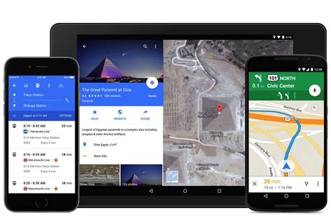 maps app for android maps for ios reved with android s material design ui