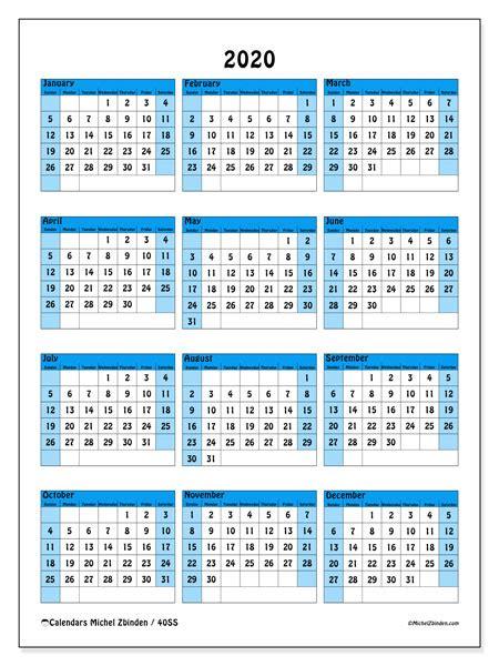calendars ss michel zbinden en