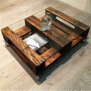 Table Basse Palettes : table basse effet palette maison et mobilier ~ Melissatoandfro.com Idées de Décoration