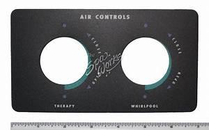 Sundance Spa Dual Air Venturi Control Overlay Decal