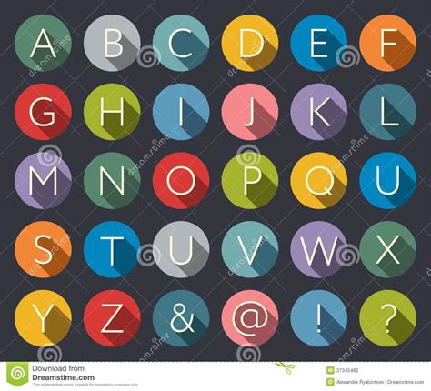 set of alphabet letters and icons for alphabet design flat icons alphabet stock photography image 37345482 39852