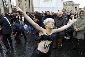 'Femen' protesters disrupt pope's weekly message- ucanews.com