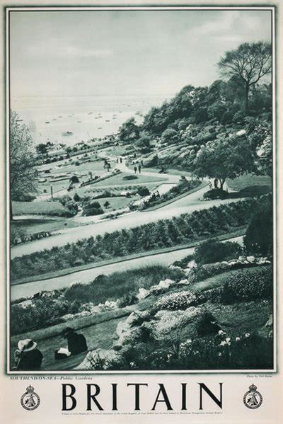 original vintage poster britain southend  sea public