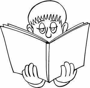 Free coloring pages of children reading books