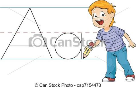 12703 writing letter clipart vectors of kid writing letters illustration of a kid
