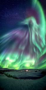 Green Dragon Aurora Over Iceland