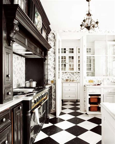 black and white kitchen floors 25 beautiful black and white kitchens the cottage market 7855