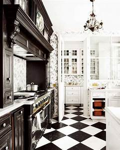 black and white kitchens ideas hupehome With design idea of classic black and white kitchen