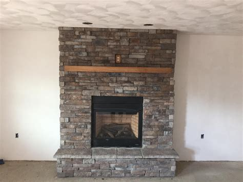 Stone Veneer Fireplace Pictures Modern Fireplace With