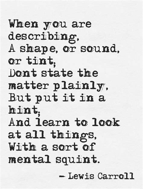 Lewis Carroll Writing