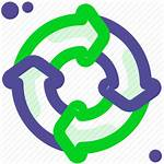 Cycle Process Icon Circle Recycle Icons 512px