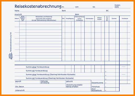 Formular Kostenlos by 10 Reisekostenabrechnung Formular Excel Something To Do