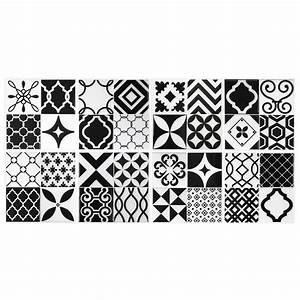 Stickers Carrelage Cuisine 15x15 : carrelage mural vintage noir et blanc achat vente ~ Dailycaller-alerts.com Idées de Décoration