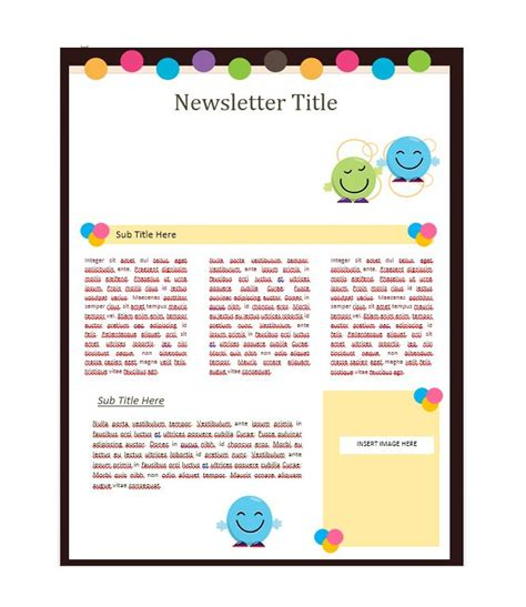 newsletter templates  work school  classroom