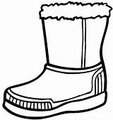 Boots Coloring Boot Winter Snow Pages Rain Cowboy Drawing Clipart Clothes Shoes Line Clip Hiver Activite Printable Cliparts Sheets Clipartmag sketch template