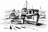 Coloring Boat Fishing Dock Pages Broken Kidsplaycolor Boats Play sketch template