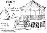 History Gorham Coloring Maine Phinney Pictorial Historical Society sketch template