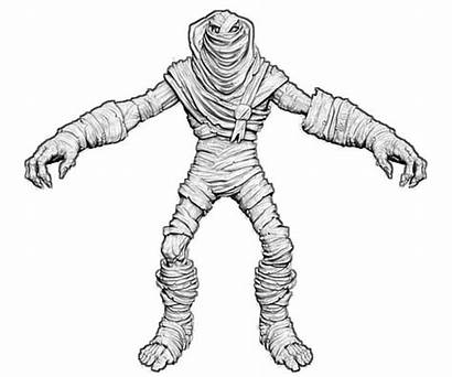 Coloring 3d Mummy Pages