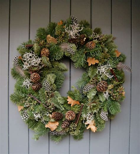 foraged festive christmas wreath courtesy  helen powell