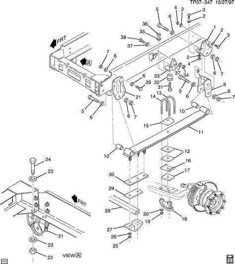 gmc topkickchevy kodiak front rear suspension