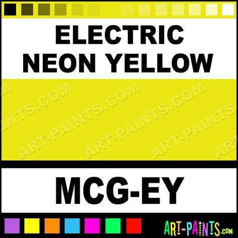 electric neon yellow glitter paints mcg ey