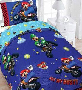 super mario bros bedding full canada wii mario brothers kart 4pc bedding set reversible comforter sheets kid s room