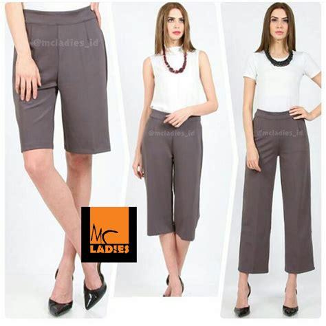 ready stock celana kulot warna orange merah ungu coklat putih grey hitam navy size