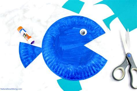 super cute paper plate fish craft  kids natural beach