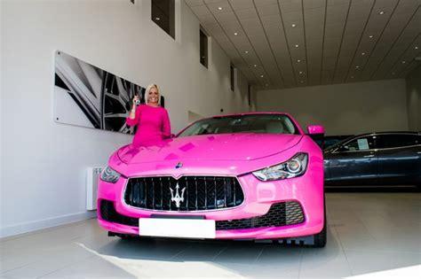 woman owns   pink maserati   uk