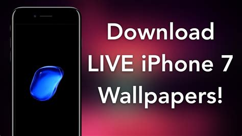 How To Get Iphone 7 Live Bubble Wallpapers On Ios 10