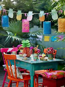 4 full bleed Talking Tables - Tropical Fiesta - Summer