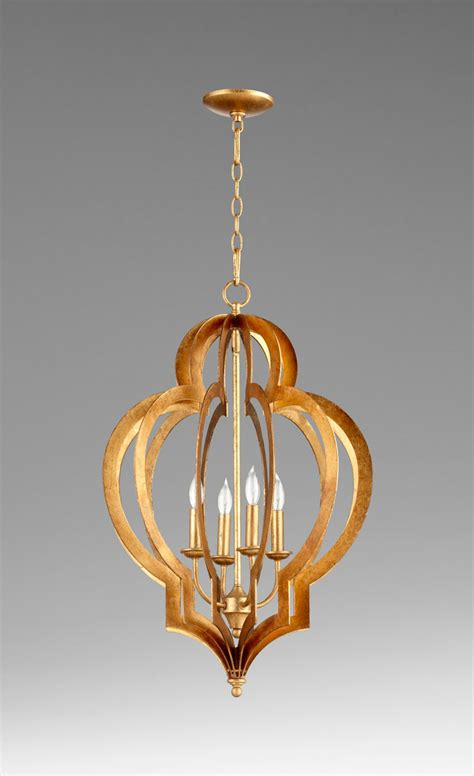 Gold Chandelier by Small Vertigo Gold Leaf Chandelier By Cyan Design