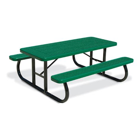 steel picnic table frame 6 39 rectangular perforated steel table portable frame