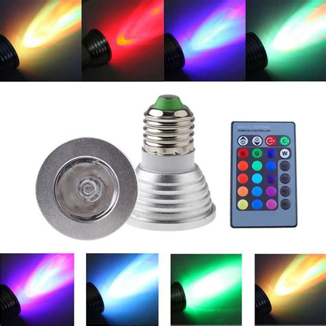 100 240v e27 multi color change rgb led light bulb l