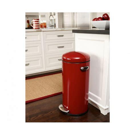 poubelle de cuisine 30l poubelle rétro à pédale inox 30l de chez simplehuman
