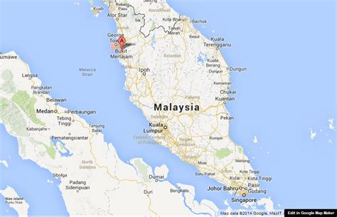 penang  map  malaysia