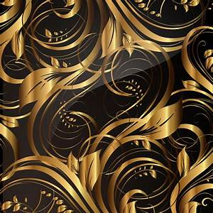 Gold pattern patterns 02 vector Free Vector / 4Vector