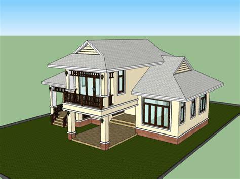 K&d Home Design : 1.5 Storey Low Cost House Design