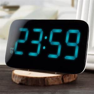 Large Number Led Alarm Clock Voice Control Large Led