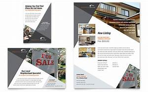 Contemporary modern real estate flyer ad template design for Modern flyers template