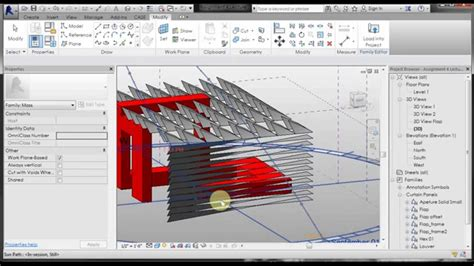 pp revit  curtain wall pattern louver pattern youtube