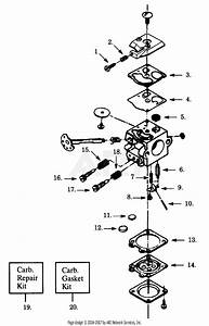 Poulan 2400 Gas Saw Parts Diagram For Carburetor Wt