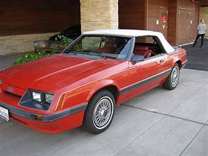 3rd gen red 1986 Ford Mustang convertible 3.8L V6 [SOLD] - MustangCarPlace