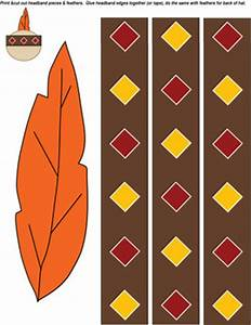 native american hat thanksgiving crafts free printable With indian hat template