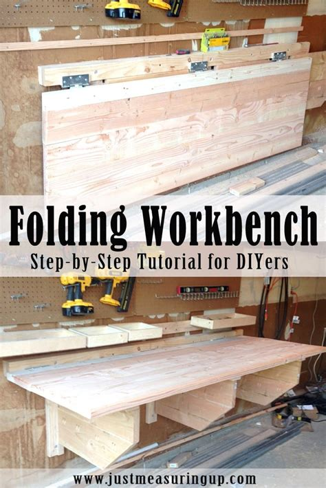 diy folding workbench folding workbench woodworking